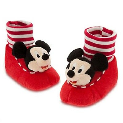 MICKEY MOUSE~Slippers~PLUSH~Costume~Baby~Striped~Infant~0-24M~Disney Store~2015 (Toddlers Mickey Mouse Costume)