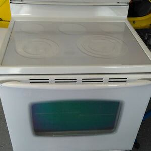 Maytag smooth top white electric range