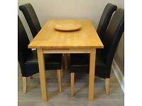Solid Pine Kitchen/Dining Table (with Lazy Susan)