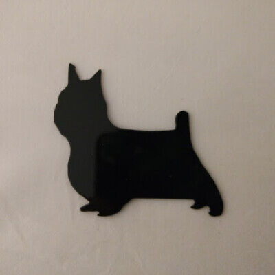 Yorkshire Terrier Refrigerator magnet black silhouette Made in the USA