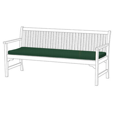 Green 4 Seater Bench Swing Garden Seat Pad Floor Cushion Outdoor Water Resistant