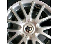 VW GOLF GT 17'' WHEELS. RONAL CLASSIX ALLOYS . TWO OF