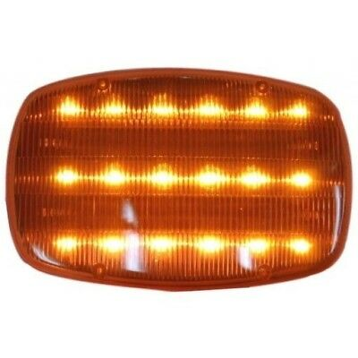 Amber Road Genie Highway Safety Steady   Flashing Light Magnetic   18 Led Lights