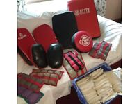 Selection of Karate Pads and junior slip on gloves