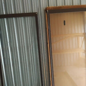 2 Sliding glass door panes