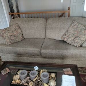 Couch, love seat and oversized chair & ottoman - matching set.