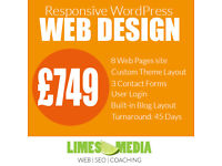 WordPress website from £749. WordPress Development, WooCommerce, SEO, Online Marketing & Training