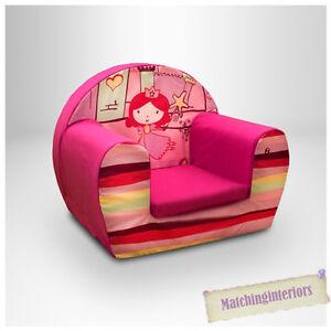 Princess Castle Pink Kids Childrens Comfy Foam Chair ...