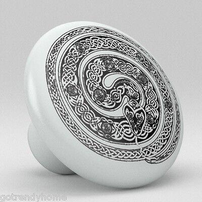 Snake Celtic Ceramic Knobs Pulls Kitchen Drawer Cabinet Vanity Closet 576 Pantry ()