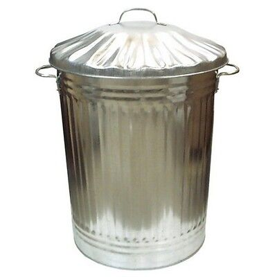 Large 80L Metal Bin Pet Food Animal Horse Feed Bird Seed Corn Grain Storage