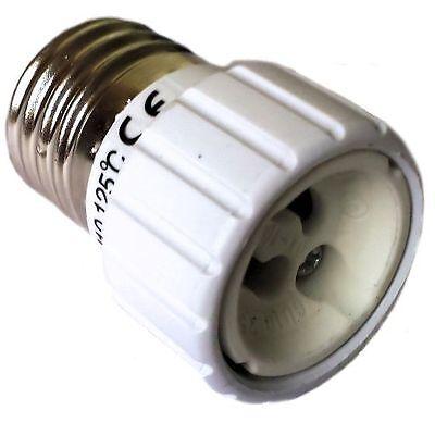Adaptador Montura GU10/E27 Versión GU10 en Base E27