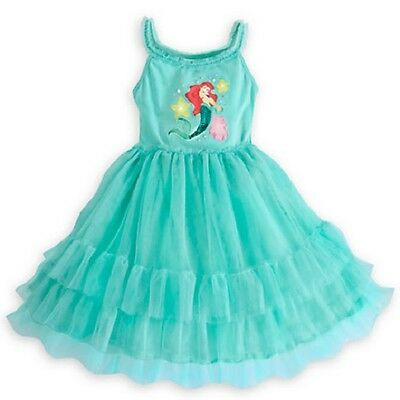 DeLuXe~ARIEL~Ruffle~Mint~DRESS~Jewels~LiTTle Mermaid~Girls~NWT~Disney Store~2015 - Little Girls Clothing Store