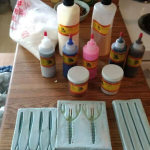 Plastic lure making components