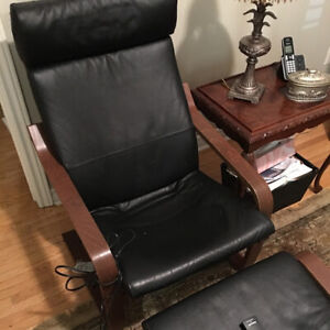 Ikea Pong Recliner Chair and footstool