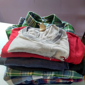 Eight men's long-sleeved shirts and T-shirts-ALL for $25