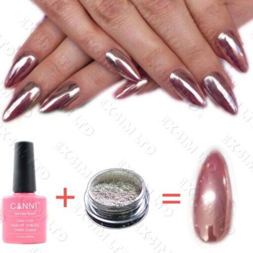 ROSE GOLD NAIL MIRROR CHROME POWDER EFFECT Pigment NAILS
