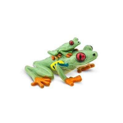 Red Eyed Tree Frog with Baby replica ~ Safari Ltd #100120 Incredible Creatures  Red Tree Frog