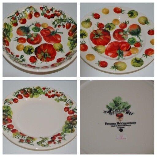 Emma Bridgewater Vegetable Garden Tomato Pasta Bowl u0026 2 Plates & Emma Bridgewater Vegetable Garden Tomato Pasta Bowl u0026 2 Plates | in ...