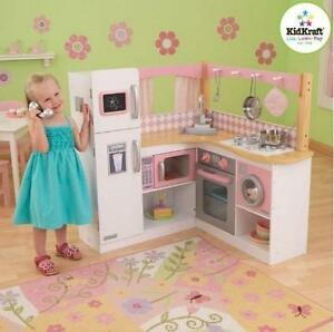 NEW KIDKRAFT KITCHEN PLAYSET Grand Gourmet Corner Kitchen PRETEND PLAY 103721157