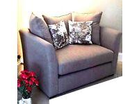 Grey snuggle chair