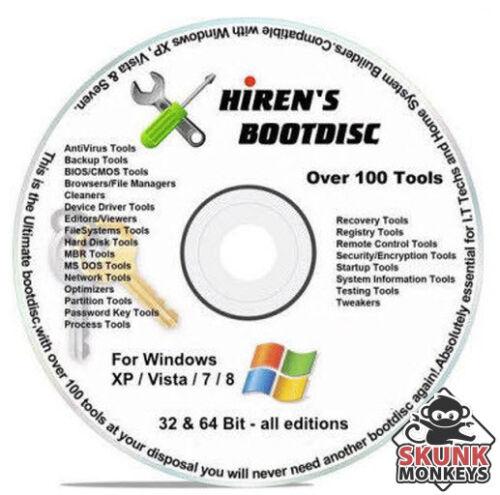 Hirens Boot CD Computer Repair Software AntiVirus Malware Removal Recover Window