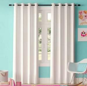 Brand New 4 sets of 2 White Room Darkening Curtain Sets