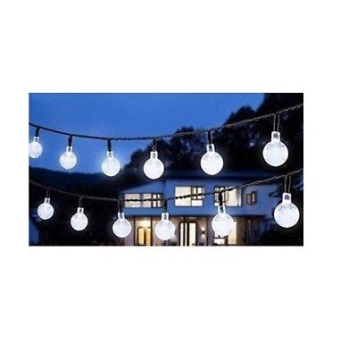 Catena luminosa lampadina LED stringa G50 Bulbi Luce Fredda 10 lampadine 5 metri