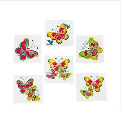Colorful Butterfly Tattoos (12 Colorful Butterfly Temporary Tattoos Kids Girls Party Favors 1.5