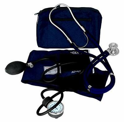 Stethoscope First Responder Emt Kit Manual Blood Pressure For Adult Kids Blue
