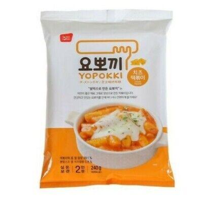 Yopokki Cheese flavor Korean Spicy Rice Cake TTeokbokki Toppoki 240g(2 Servings)