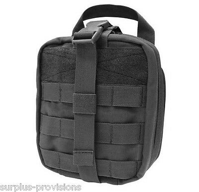 Condor - Tactical Rip-away Emt Pouch - Black - Large First Aid Bag - Ma41