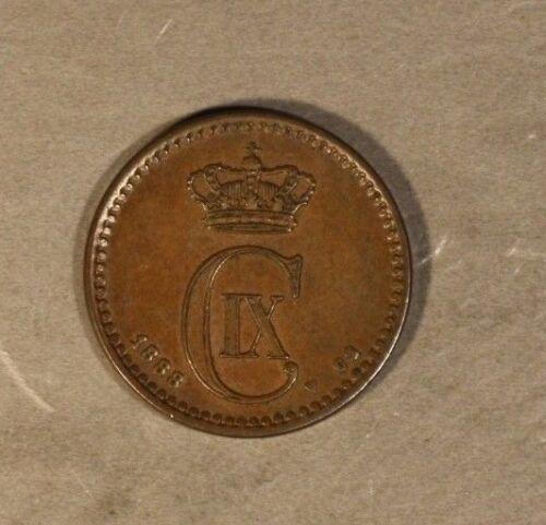 1888 Denmark 1 Ore Very High Grade                      ** FREE U.S. SHIPPING **