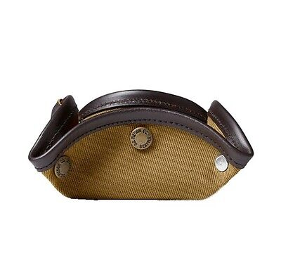 FILSON Rugged Cotton Twill Tan Snap Travel Throw Tray 69157