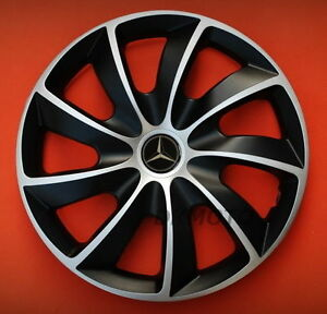 16 39 39 wheel trims hub cups for mercedes vito sprinter 4 x 16 39 39 black silver ebay. Black Bedroom Furniture Sets. Home Design Ideas