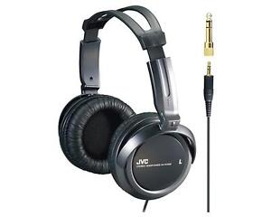 JVC HA-RX300 HIGH QUALITY STEREO EXTRA BASS HEADPHONES DJ HOME BLACK