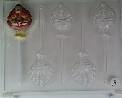 Happy t Day Turkey Lollipop Thanksgiving Candy Mold Molds Party (5)