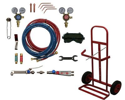 GAS WELDING & CUTTING KIT + PORTABLE BOTTLE TROLLEY - PORTA PACK - GAS WELDING