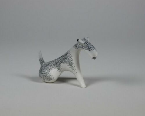 Porcelain figurine FOX TERRIER AS Ćmielów