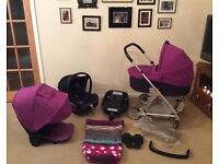£220 OVNO beautiful Mamas and papas URBO travel system pram pushchair car seat and base