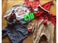 Christmas clothes bundle 3-6 months