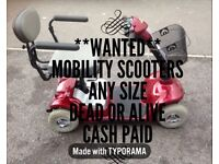**WANTED DERBY AREA** MOBILITY SCOOTERS ~ DEAD OR ALIVE *COLLECTION ARRANGED AND CASH PAID*