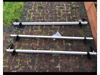 Ford transit custom roof bars set of 3