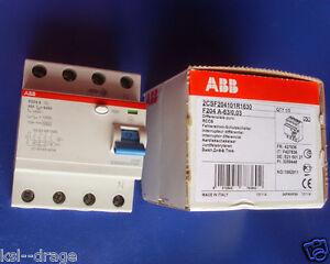 ABB F204A 63A 30mA 0,03A 4 polig Fi-Schutzschalter Fehlerstrom