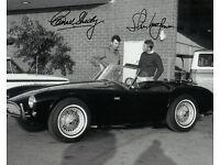 COOL STEVE MCQUEEN COBRA SPORTS CAR CARROLL SHELBY SHOP 8.5x11 PHOTO AUTOMOBILIA