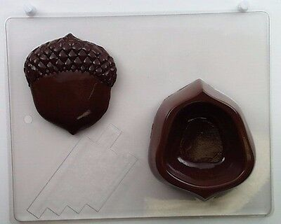 """Acorn Box /& Lid with  Chocolate Candy Plastic Mold LOP F-79  4.25/""""x 4.5/""""x 1.25/"""""""