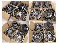 """L* 4X NEW 18"""" INCH ALLOYS ALLOY WHEELS 5X108 FORD FOCUS ST MONDEO KUGA TRANSIT CONNECT ST"""