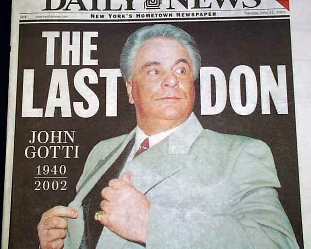 JOHN GOTTI Gambino Crime Family MOB BOSS Mafia DEATH w/ Photos2002 NYC Newspaper