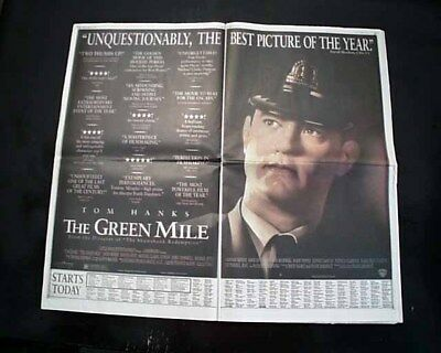 Best THE GREEN MILE Film Movie Opening Day AD Review 1999 Los Angeles Newspaper ()