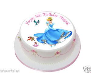 Cinderella Princess x1 Edible Birthday Cake Topper Icing 7.5