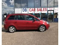7 SEATER !!! 2006 06 VAUXHALL ZAFIRA 1.8 DESIGN 16V 5D 140 BHP ** GUARANTEED FINANCE ** PART EX WEL